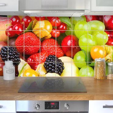 Fliesenbild - Obst Mix
