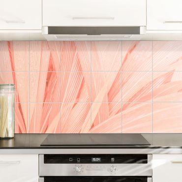Fliesenbild - Palmenblätter Rosa