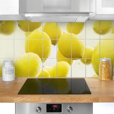 Fliesenbild - Zitronen im Wasser