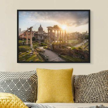 Bild mit Rahmen - Forum Romanum bei Sonnenaufgang - Querformat