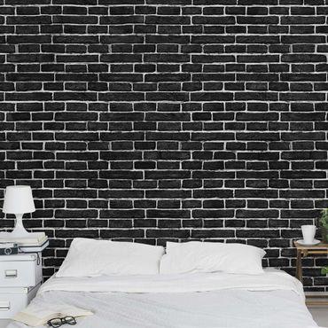 Fototapete Backsteinwand schwarz