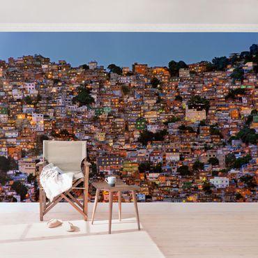 Fototapete - Rio de Janeiro Favela Sonnenuntergang