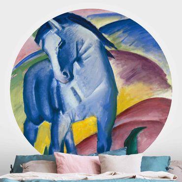 Runde Tapete selbstklebend - Franz Marc - Blaues Pferd