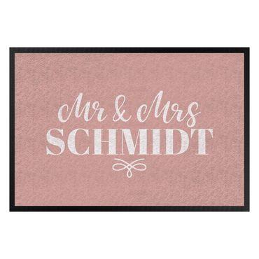 Fußmatte + Name - Mr und Mrs Wunschtext