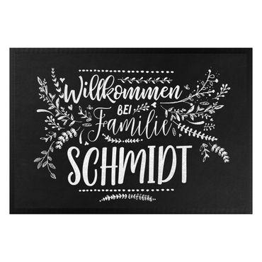 Fußmatte + Name - Willkommen bei Familie Wunschname