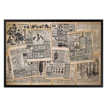 Fußmatte - Antike Zeitungen