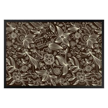 Fußmatte - Art Nouveau Monochrome