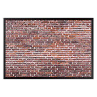Fußmatte - Rote Backstein Mauer