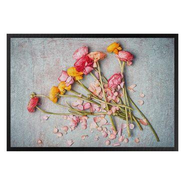 Fußmatte - Blütenblätter