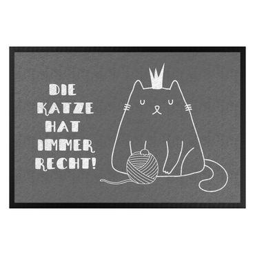 Fußmatte - Die Katze hat immer Recht