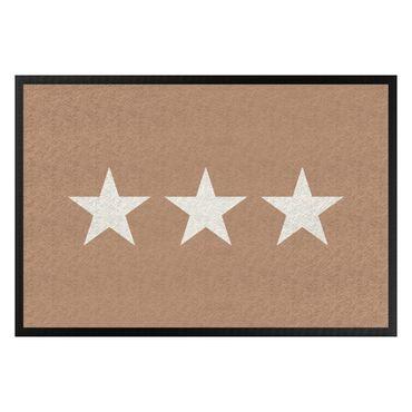 Fußmatte - Drei Sterne khaki