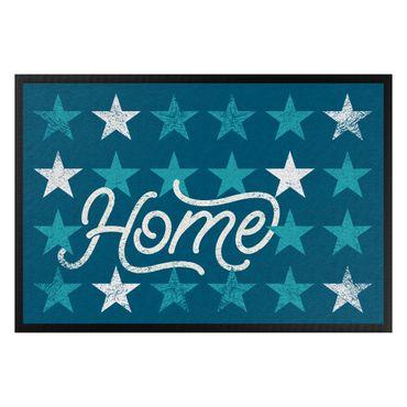 Fußmatte - Home Sterne blau