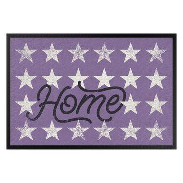 Fußmatte - Home Sterne flieder