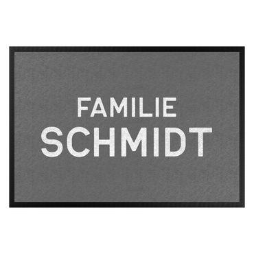 Fußmatte mit Wunschtext - Familienname Wunschtext