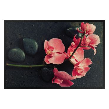 Fußmatte - Rosa Orchidee