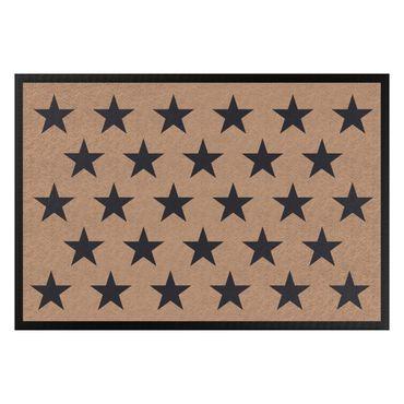 Fußmatte - Sterne versetzt khaki dunkelgrau