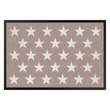 Fußmatte - Sterne versetzt taupe