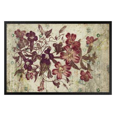 Fußmatte - Vintage Pflanzenzeichnung