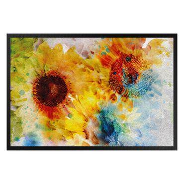Fußmatte - Watercolor Sunflower