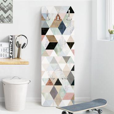 Garderobe - Aquarell-Mosaik mit Dreiecken I