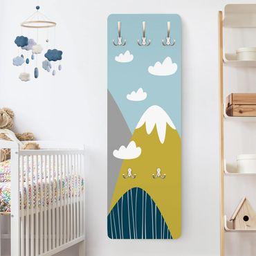 Garderobe - Berge mit Wolken