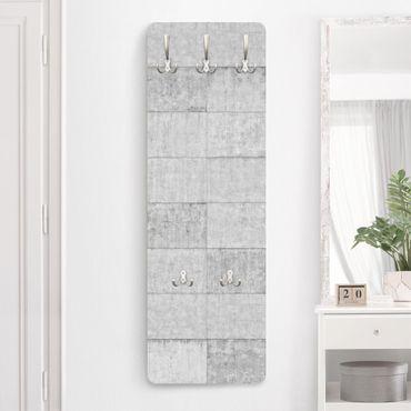 Garderobe - Beton Ziegeloptik grau