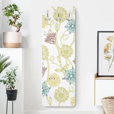 Garderobe - Bezaubernde Pflanzen - Weiß