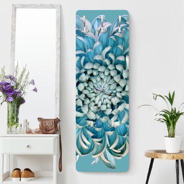 Garderobe - Blaue Chrysantheme