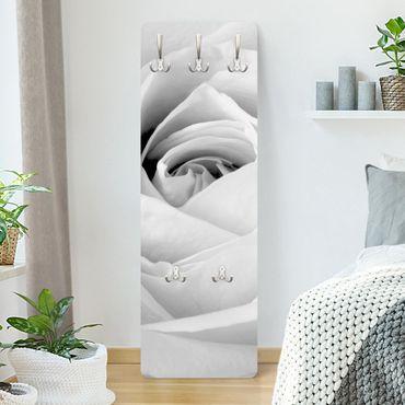Garderobe Blumen - Close Up Rose - Weiß