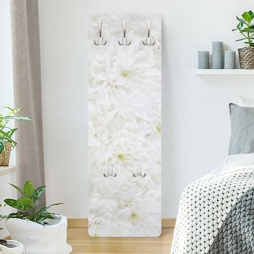 Garderobe Blumen - Dahlien Blumenmeer weiß