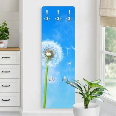 Garderobe Blumen - Flying Seeds - Blau