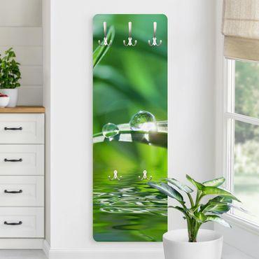 Garderobe Blumen - Green Ambiance II - Grün