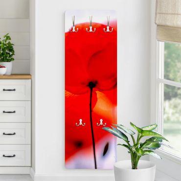 Garderobe Blumen - Magic Poppies - Rot