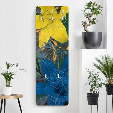 Garderobe Blumen - No.BP21 Lilientraum Blue - Blau Gelb