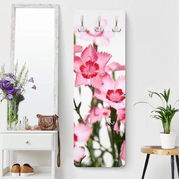 Garderobe Blumen - Pink Flowers - Weiß Rosa Pink