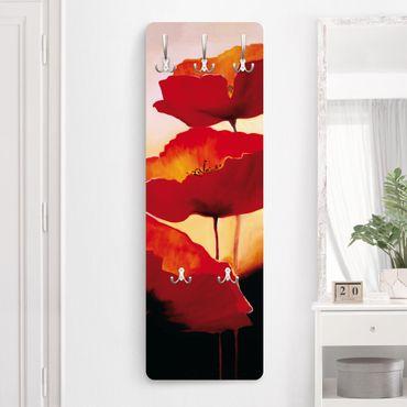 Garderobe Blumen - Poppy Family - Rot