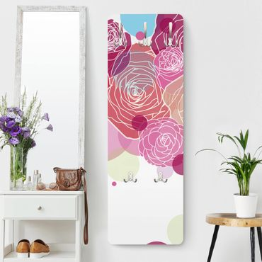 Garderobe Blumen - Roses and Bubbles - Rosa Pink