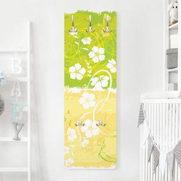 Garderobe Blumen - Springtime - Grün