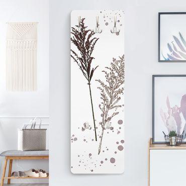 Garderobe - Botanisches Aquarell - Schwingelschilf