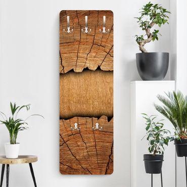Garderobe Braun - Holzoptik Holzstruktur - Landhaus