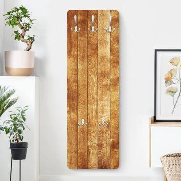 Garderobe Braun - Holzoptik Nordic Woodwall - Landhaus