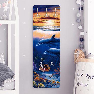 Garderobe - Dolphins World - Blau
