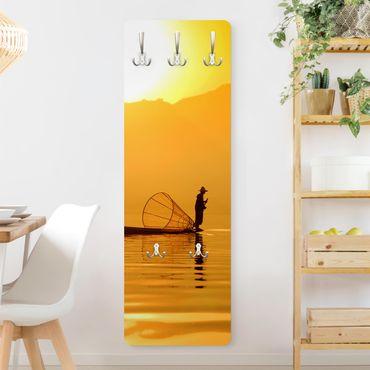 Garderobe - Fischer im Sonnenaufgang - Gelb