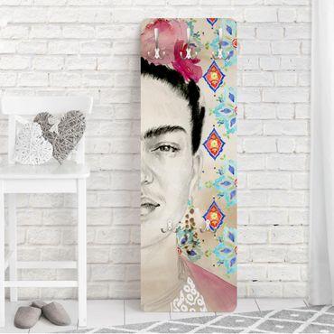 Garderobe - Frida mit rosa Blüten I