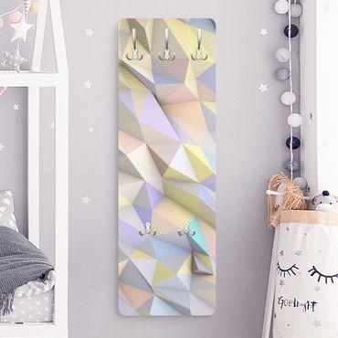 Garderobe - Geometrische Pastell Dreiecke in 3D