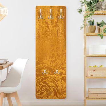 Garderobe - Goldene Flora - Gelb