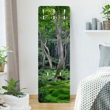 Garderobe - Japanischer Wald - Grün