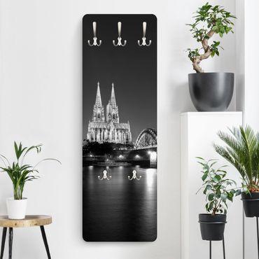 Garderobe - Köln bei Nacht II - Schwarz