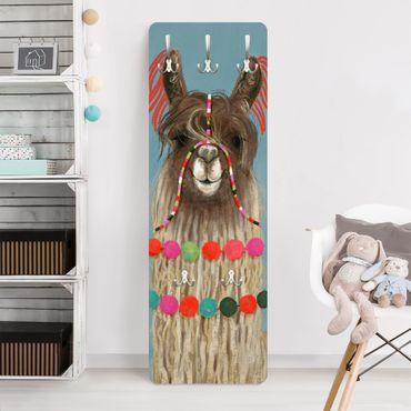 Garderobe - Lama mit Schmuck I