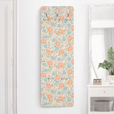 Garderobe Landhaus - Vintage Rosen und Blumen - Shabby Chic